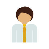 Half body man with suit and necktie. Vector illustration Stock Images