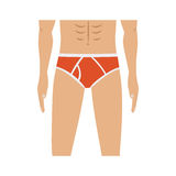 Half body men with red swimming trunks. Vector illustration Stock Photos