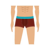 Half body men with swimming trunks Royalty Free Stock Photo
