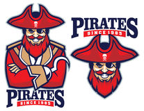 Half body pirate mascot Royalty Free Stock Photo