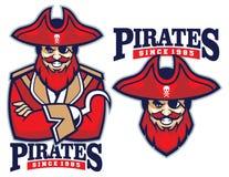 Half body pirate mascot Royalty Free Stock Photo
