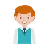 Half body redhead man with formal suit and tie Stock Image