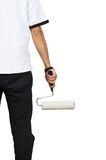 Half body with roller Stock Photography