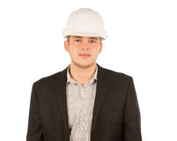 Half Body Young Male Engineer Portrait Stock Photo