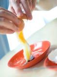 Half boiled egg for breakfast Stock Photos