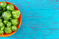 Free Half Bowl Filled With Green Peppers Stock Photos - 75963813