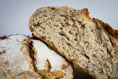Half of bread based on the second bread.  royalty free stock photography