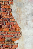Half brick half concrete wall background Royalty Free Stock Photo