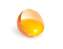 half broken ägg Arkivfoto