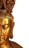 Half buddha face closeup Stock Image