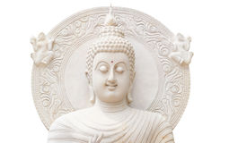 Half buddha status on white background Royalty Free Stock Photo