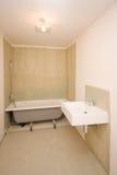 Half-built bathroom Royalty Free Stock Image