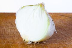 Half bulb of onion Royalty Free Stock Photo