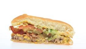 Half a Burger Royalty Free Stock Images