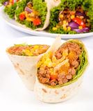 Half burrito Royalty Free Stock Photography