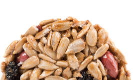 Half of candied peanuts sunflower seeds. Stock Images