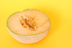 Half cantaloupe Stock Photo