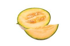 Half a cantaloupe melon Royalty Free Stock Photos