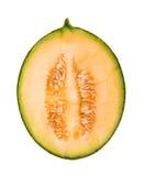 Half a cantaloupe melon Royalty Free Stock Images