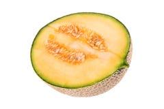 Half a cantaloupe melon Stock Photo