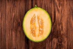 Half a cantaloupe melon Stock Photography