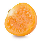 Half of cape gooseberry isolated on the white background Stock Image