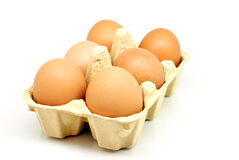 Half carton of Eggs Royalty Free Stock Images