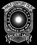 Half century old ancient sage graphic stock image