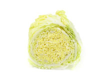 Half of Chinese cabbage. On white background Royalty Free Stock Images