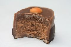 Half a chocolate Stock Photography
