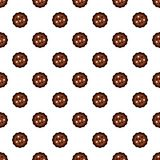 Half chocolate biscuit pattern seamless vector. Repeat for any web design royalty free illustration