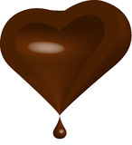 Half of Chocolate Heart Stock Photo