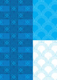 Half Circle Blue Theme Pattern Seamless_eps Royalty Free Stock Photos