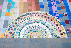 Half circle ceramic tile on Royalty Free Stock Images