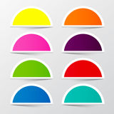 Half Circle Colorful Stickers Set. Royalty Free Stock Image