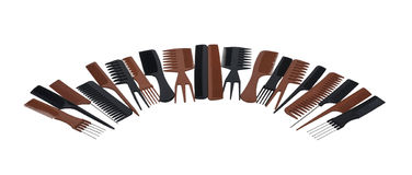 Half Circle of Combs Royalty Free Stock Images