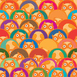 Half circle owl is me seamless pattern Stock Photo