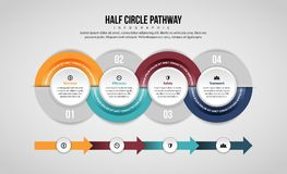 Half Circle Pathway Infographic Stock Photo