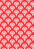 Half Circle Red Fortune Seamless Pattern_eps Stock Photography