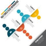 Half Circle Slice Infographic Royalty Free Stock Photography