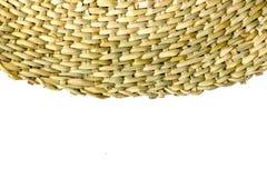 Half-Circled Rattan Mat Stock Photo