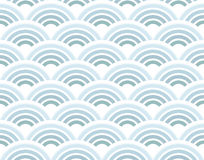 Half circles seamless pattern Royalty Free Stock Image