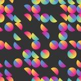 Half cirkels naadloos patroon Stock Foto