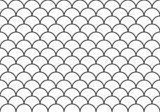 Half cirkelsbehang stock illustratie