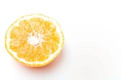Half of citrus clementine mandarin sweet fruit Royalty Free Stock Photo