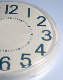 Half Clock. Clock face showing only 12 to 6 Royalty Free Stock Photography