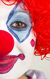 Half Female Face Colorful Circus Clown Portrait Royalty Free Stock Images