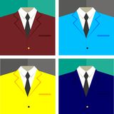 Half Coat. Half icon coats university with four different colors in vector Stock Photo