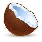 Half a coconut Royalty Free Stock Photos