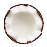 Half of coconut isolated royalty free stock images